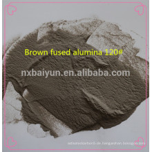 Sandstrahlen Schleifmittel braun verschmolzen Aluminiumoxid F # 60 mesh