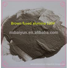abrasivos de chorro de arena marrón fundido alúmina F # 60 mesh