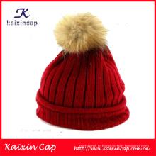 2016 chapeaux d'hiver de haute qualité design personnalisé avec ballon sur le dessus