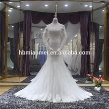 Vestido noiva fishtail open back long maxi mermaid wedding dress sale
