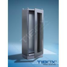 Gabinete de acero inoxidable con puerta acristalada