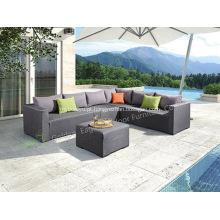 Conjunto de sofá de tecido de alumínio ao ar livre