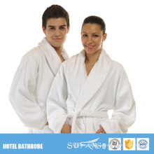Barato Kimono Blanco Fibra de Coral Microfibra Coral Hotel Parejas Albornoz Conjunto