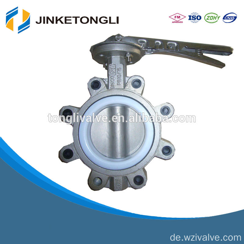 lug type 1 inch butterfly valve with cast iron handlever JKTL BT045L