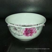 Белый шар фарфора фарфора керамическая лапша миска суп миска