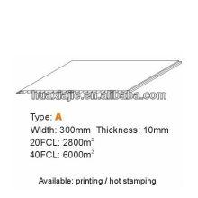 Hochwertige PVC-Decke 300mm * 10mm