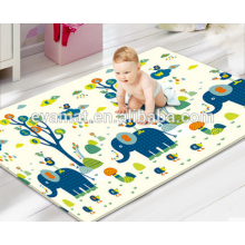 2016 hot sales and new design child game double side PU material baby play crawling mat, washable play mat made in China
