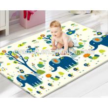 2016 vendas quentes e novo design jogo de criança dupla face PU material do bebê jogar esteira de rastejamento, tapete de jogo lavável made in China