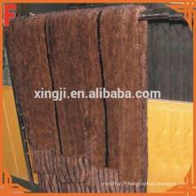 Queue de fourrure de vison de qualité supérieure tricotée couverture de fourrure de vison