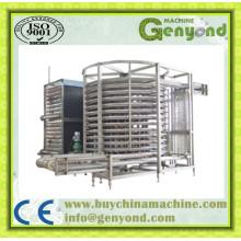 Máquina de congelação rápida espiral aprovada CE para produtos alimentícios