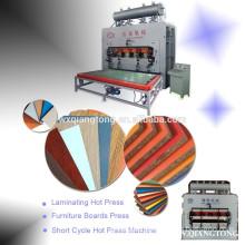 Short cycle melamine laminating hot press machine for wood furniture