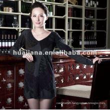Elegent women v neck sweater dress 100% cashmere