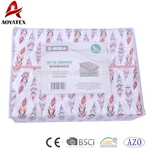75gsm printed microfiber duvet cover matching with pillowcases