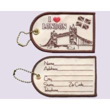 Embroidery Luggage Tag, I Love London
