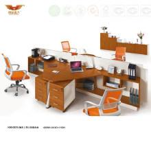 Triangle Desk Design Office 4 Person Seats Modular Workstation (H30-0231)