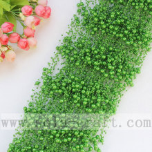 Dark Green Hot Sale China Wholesale Pearl Beaded Garland Manufacturer High Quality Trimming