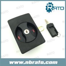 Cerradura negra del gabinete del ABS cerrada de la puerta