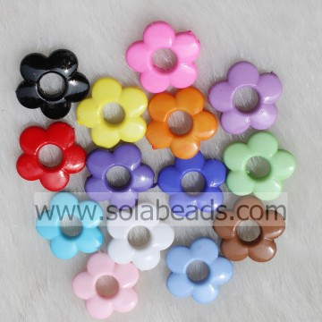 Hot Sale 20MM Colors Blossom Flower Beads