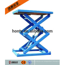 Elevador de tijera estacionario hidráulico de 5 toneladas / elevador manual hidráulico de gato