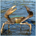Seaside Decoration Seal Life Large Brass Crab Statue