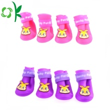 Caliente-venta de mascotas Rainshoes Rain Boot Silicone Dog Shoes