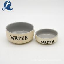 Pet Accessories Customized Stoneware Animal Dog Water Bowl