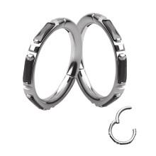 Hot selling popular design ASTM F136 Titanium steel color simple hing piercing septum clicker ring