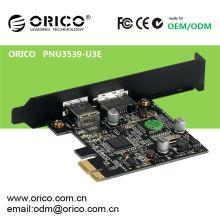 PCI-E slot to USB3.0&ESATA Express Card dual high speed interface