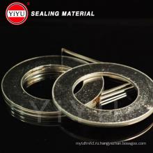 Гибкая графитовая спирально-навитая галька с внутренним и внешним кольцом