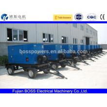 Water cooled diesel trailer generator