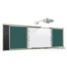 Комбинируйте раздвижную зеленую доску, белую доску и интерактивную доску