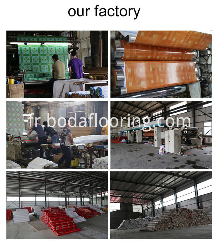pvc flooring factory and packing