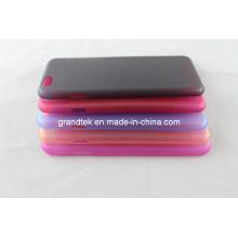 Estuche rígido plástico transparente transparente de varios colores para iPhone6