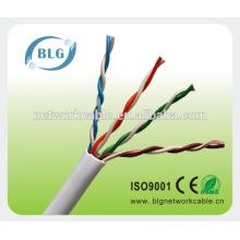 0.4mm BC / CU / CCS / CCA CAT5 cable lan cable de red para ethernet
