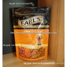 Comida de cão caseiro de plástico zip lock saco de embalagem / atacado DIY pet food sacos de embalagem