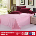 100GSM Solid Color Combo Microfiber Bed Sheet