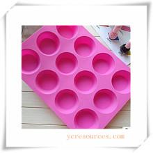 Molde de silicón ovalado de 16 cavidades para jabón, pastel, magdalenas, brownie y más (HA36019)