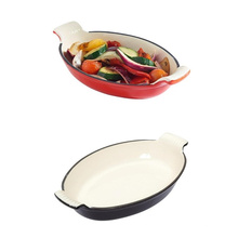 Wholesale Kitchenware Enamel Cast Iron Fish Plate