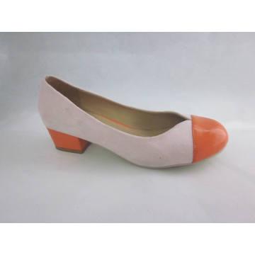 2016 zapatos de vestir gruesos de las señoras del alto talón de la manera (HCY03-096)