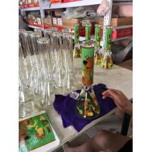 Glass Beaker Base Bongs with Lovely Dog Decal