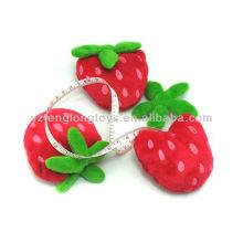 Lovely children strawberry portable plush tapeline