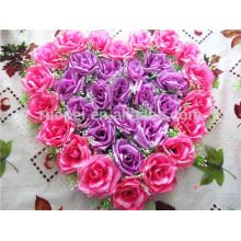 Chine usine directement forme d'étoile artificielle rose couronne de fleurs pour la décoration de mariage