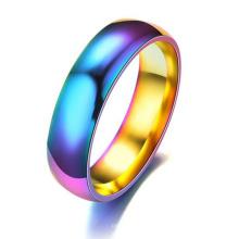 Homem de aço inoxidável arco-íris anel de homem aliado expresso barato por atacado o anel