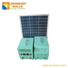 Sistema solar de energía solar Panel: 45W; Batería: 24ah