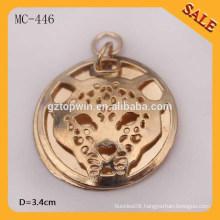 MC446 custom embossed metal labels/hang metal tag for clothing