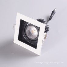 Commercial 92Mm Cutting Recessed Grid Downlight Housing Anti-Glare Grille Led Cob Ceiling Spot Light