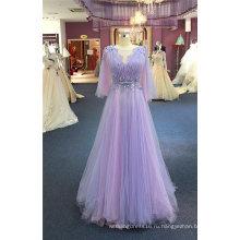 Фиолетовый Бисер Цветок Вечерние Платья