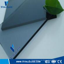 Vidrio llano gris azul con CE & ISO9001