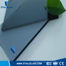 Blue Grey Plain Glass avec CE & ISO9001