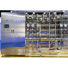 Equipos de sistemas de agua ultrapura utilizados en hospitales.